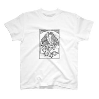 ミュシャ / 1897 /Coverage for the volume of grandmothers Songs / Alphonse Mucha T-shirts