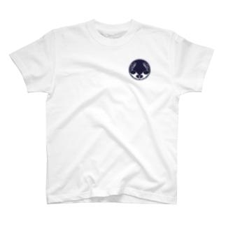 向かい天竺鼠と大粟還の家紋 T-shirts