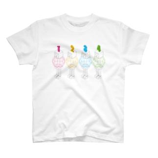 ワイヤーフレームなロボット。 T-shirts