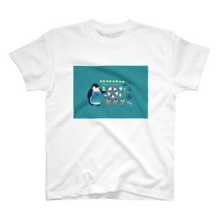 ひんやりペンギンカフェ T-shirts