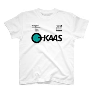 架空レースイベントにスポンサーしている架空企業のノベルティ T-shirts