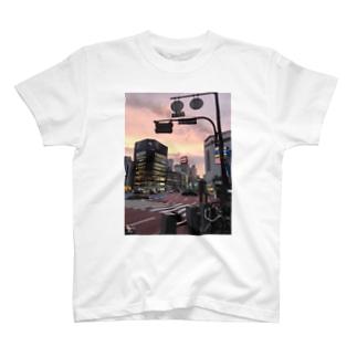 福岡市 天神の交差点 T-shirts