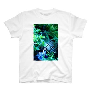 #たい焼きグラビア  お庭とたい焼き T-shirts