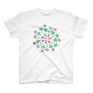 たくさんの星に囲まれて T-shirts