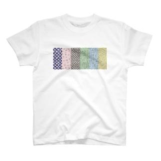 六色和柄 T-shirts