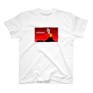 火山 Tシャツ T-shirts