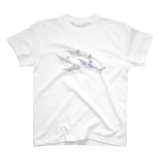 サメ の 重なるブリリアント シール Brillant SAME Seals 002 〈白地推奨〉 T-shirts