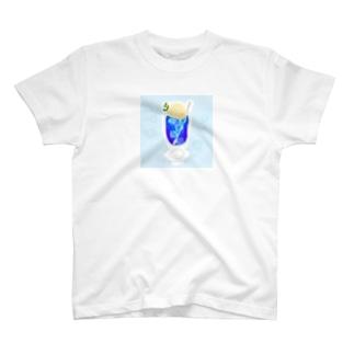 青いクリームソーダ T-shirts