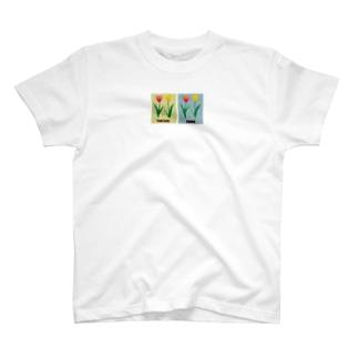 チューリップと花言葉 T-shirts