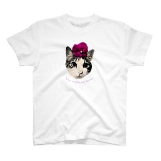 パンジー・マロン T-shirts