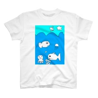 海の生き物 T-shirts