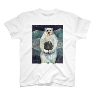 木を植えるシロクマさん T-shirts