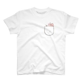 ぶたinぽけっと T-shirts