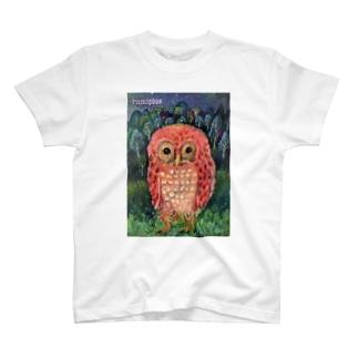お散歩フクロウ T-shirts