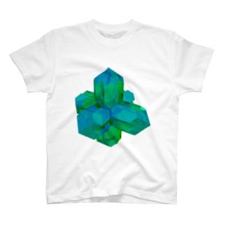 灰十字沸石(緑) T-shirts