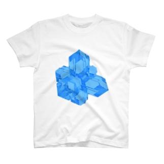 灰十字沸石(青) T-shirts