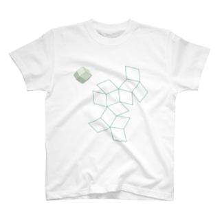 柘榴石(12面体+展開図) T-shirts