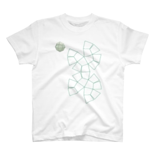 柘榴石(24面体結晶図+展開図) T-shirts