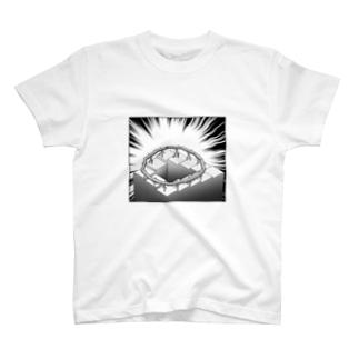 ペンローズの階段の上に置いた流しそうめん T-shirts