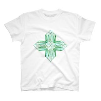 灰十字沸石(3Dデータ) T-shirts