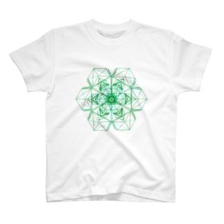 金緑石(4連双晶の3Dデータ) T-shirts