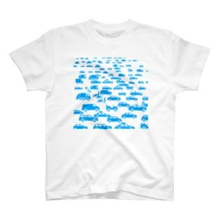 自動車ポップサイン T-shirts
