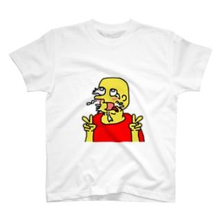 あへ顔もっくんTシャツ T-shirts