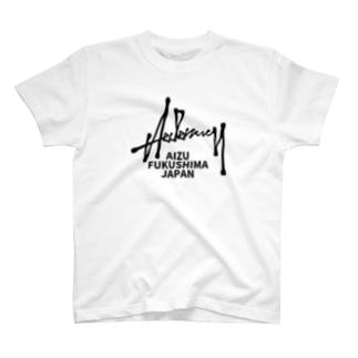 ヘデナシー黒文字 T-shirts