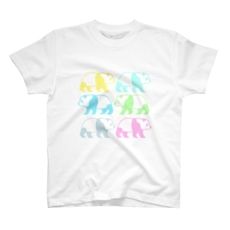 レインボーパンダさん虹色ポップサイン T-shirts