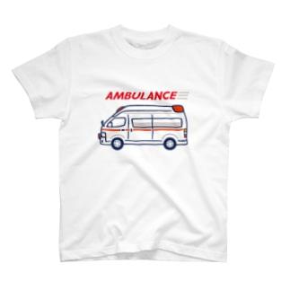AMBULANCE 救急車 T-shirts