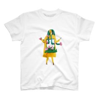 お花ちゃんミラー T-shirts