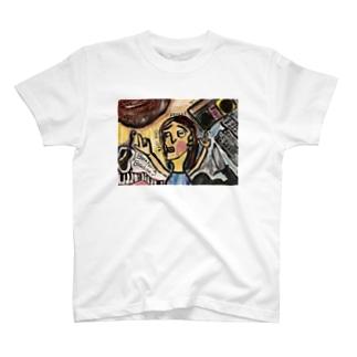 ピカソ風ペイント T-shirts
