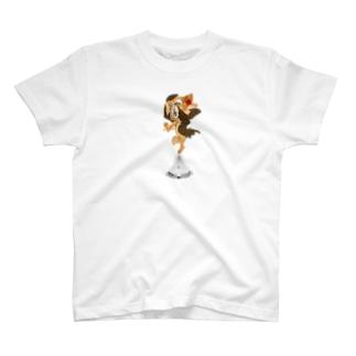 暁斎デュシャンダダンス T-shirts
