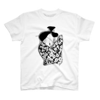天使の心臓/モノクロ T-shirts