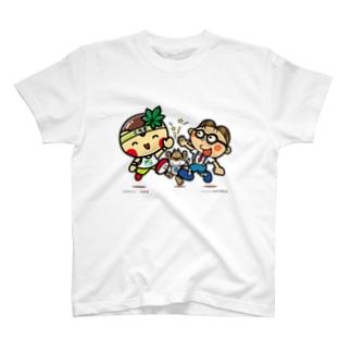 とちまるくんとパソコン太郎の夢絵本【ハイタッチ】 Tシャツ
