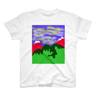 JUJNSEN SETA(瀬田 純仙)令和の夏山1 T-shirts
