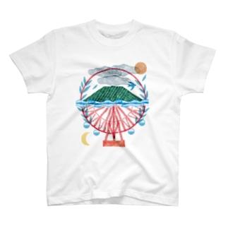 中原みお 版画チャリT T-shirts