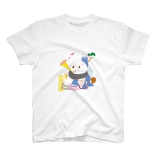 肉まんくんパプアパプーパ T-shirts