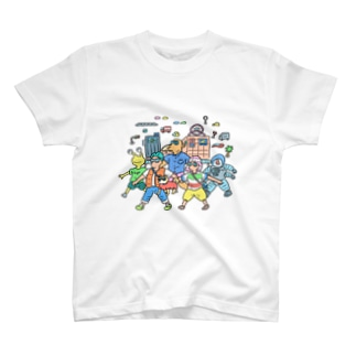 Kamisakamoto Hitoshi イラストチャリT T-shirts