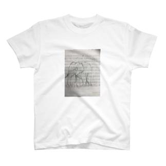 ゾウの落書き T-shirts