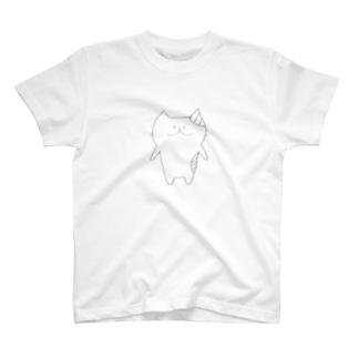 幸薄ねこにゃさん T-shirts