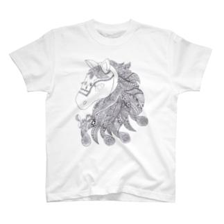 Jun:Horse(mono) T-shirts