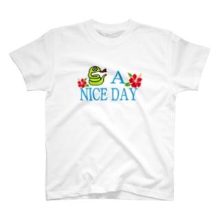 ハブ a nice day T-shirts