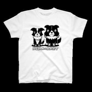 nowhitonの【nina&bart】ニナとバート T-shirts