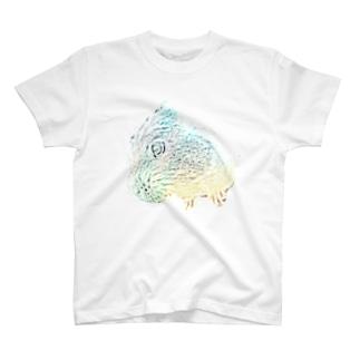 虹色モルモット T-shirts
