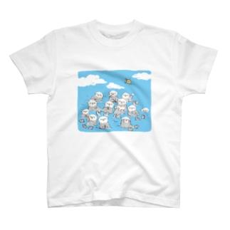 ラッコがいっぱい T-shirts