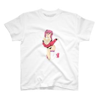 擬人化桃ダブルTシャツ T-shirts