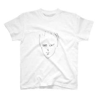 しまだくんの似顔絵 T-shirts