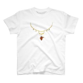 ネックレスのメイン部分を無くすとやってくるミノムシ T-shirts