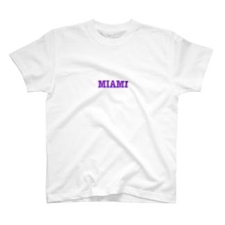 マイアミ文字だけTシャツ T-shirts